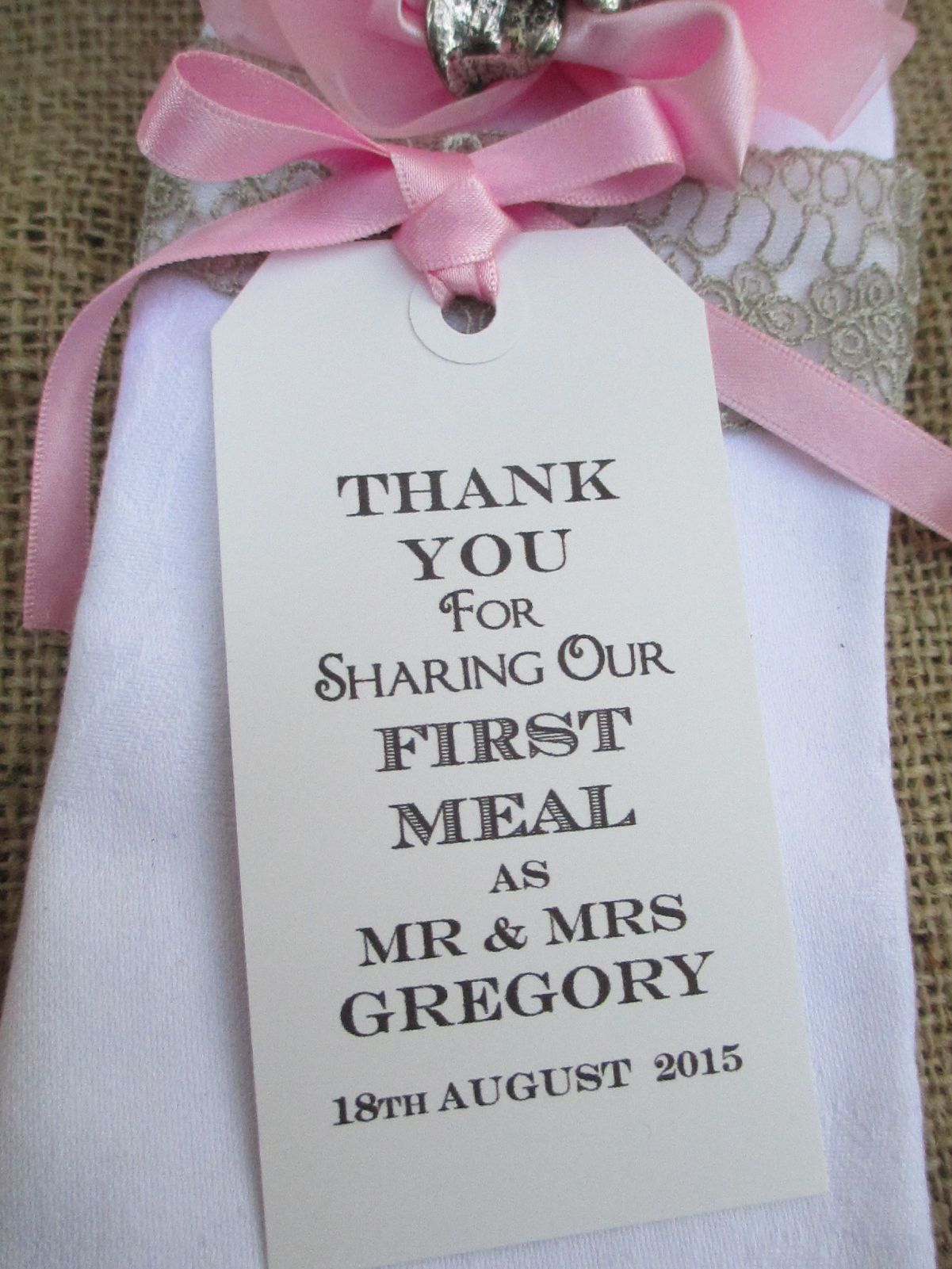 10 Thank You for Sharing Name Place Cards Personalized Luggage Tags ...